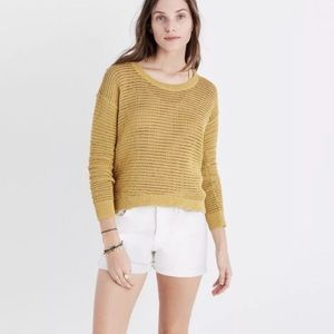 Madewell Northshore Loose Knit Yellow Sweater